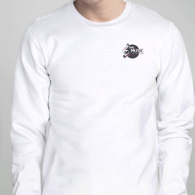The Music Access Logo White Long Sleeve